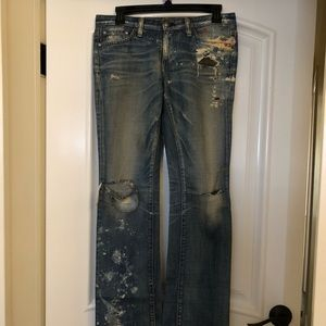 AG by adriano goldschmied distressed denim